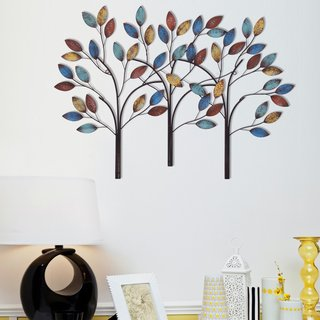 DecentHome Steel Trees 3D Wall Decor