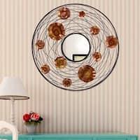 Adeco Decorative Metal Wall Mirror