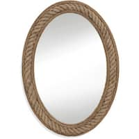 Large Oval Rope-Framed Wall Mirror