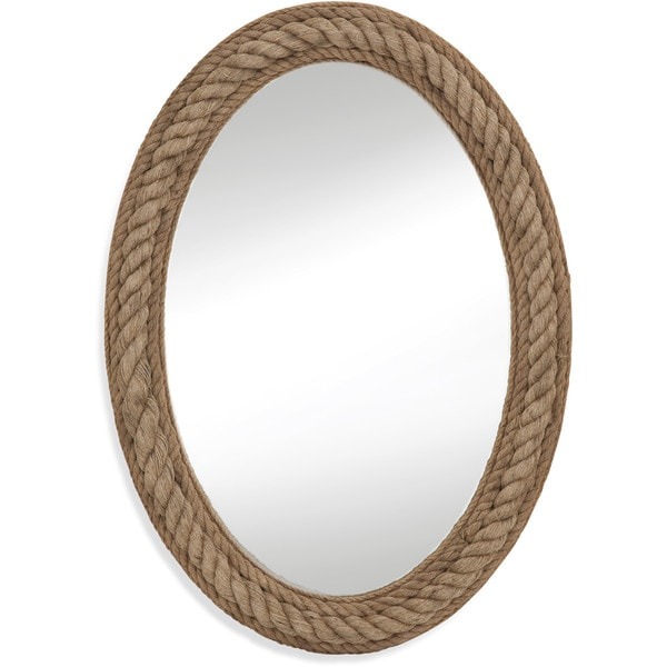 Shop Large Oval Rope-Framed Wall Mirror - Free Shipping Today ...