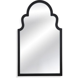 Elberta Black Wood Wall Mirror