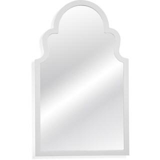Myrna White Wood-framed Wall Mirror