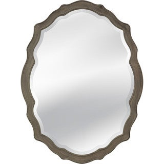 oval mirror frame. Barrington Beveled Glass Oval Wall Mirror With Grey Wood Frame