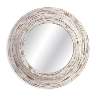 Mallory White Wood-framed Wall Mirror