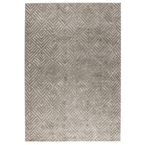 Handmade M.A.Trading Salem Taupe Rug (India)