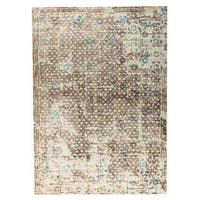 M.A.Trading Hand Woven Gela Beige/Turquoise/Grey (India) - 8'x10'