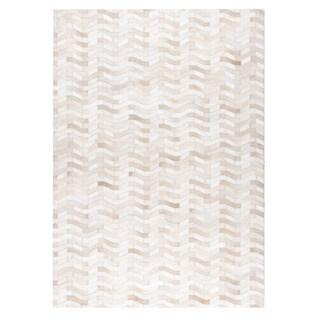 Handmade M.A.Trading Algedi White Rug (India)