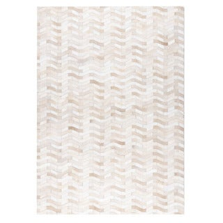 M.A.Trading Hand Made Algedi White Rug (9'x12') (India)