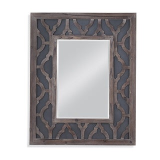 Bassett Mirror Lavanne Wall Mirror with Grey Frame