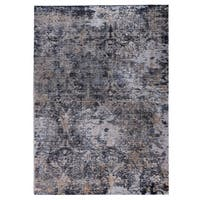 M.A.Trading Hand Woven Mehran Dark Grey (5'x8') (India)