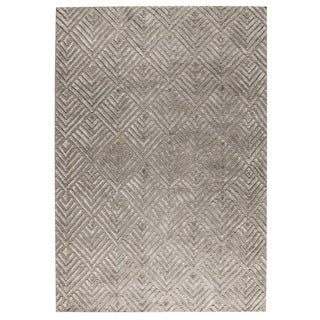 M.A.Trading Hand Woven Salem Taupe (4'x6') (India)