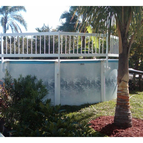 Water Warden Base Kit A Above-ground Pool White Vinyl Safety Fence