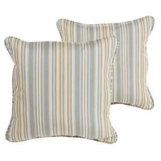 Sawyer Sunbrella Gavin Mist Indoor/ Outdoor 22 inch Corded Pillow Set
