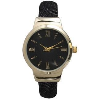 Olivia Pratt Women's Stainless Steel 1-size Petite Elegant Roman Numeral Bangle Watch