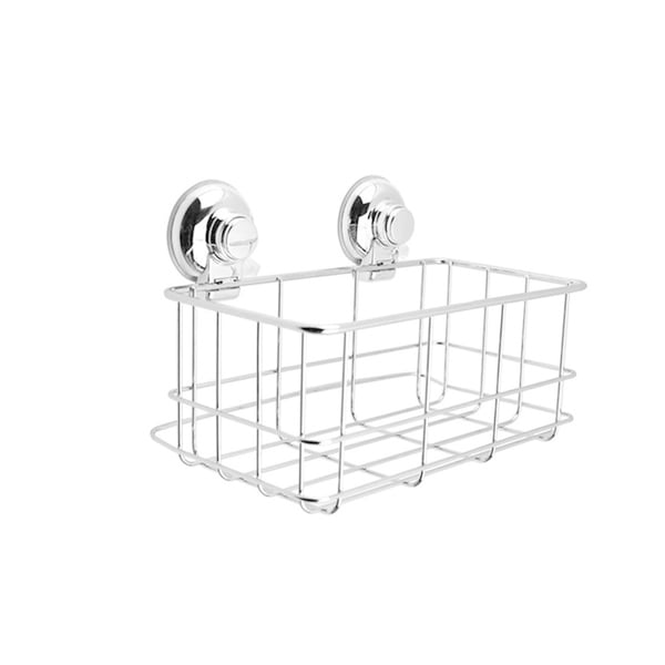 Push To Lock Stainless Steel & Chrome Shampoo Basket