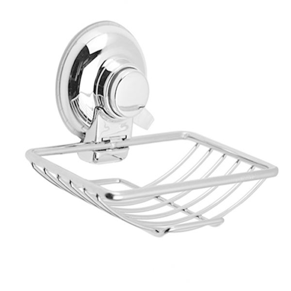 Push To Lock Stainless Steel and Chrome Soap Dish