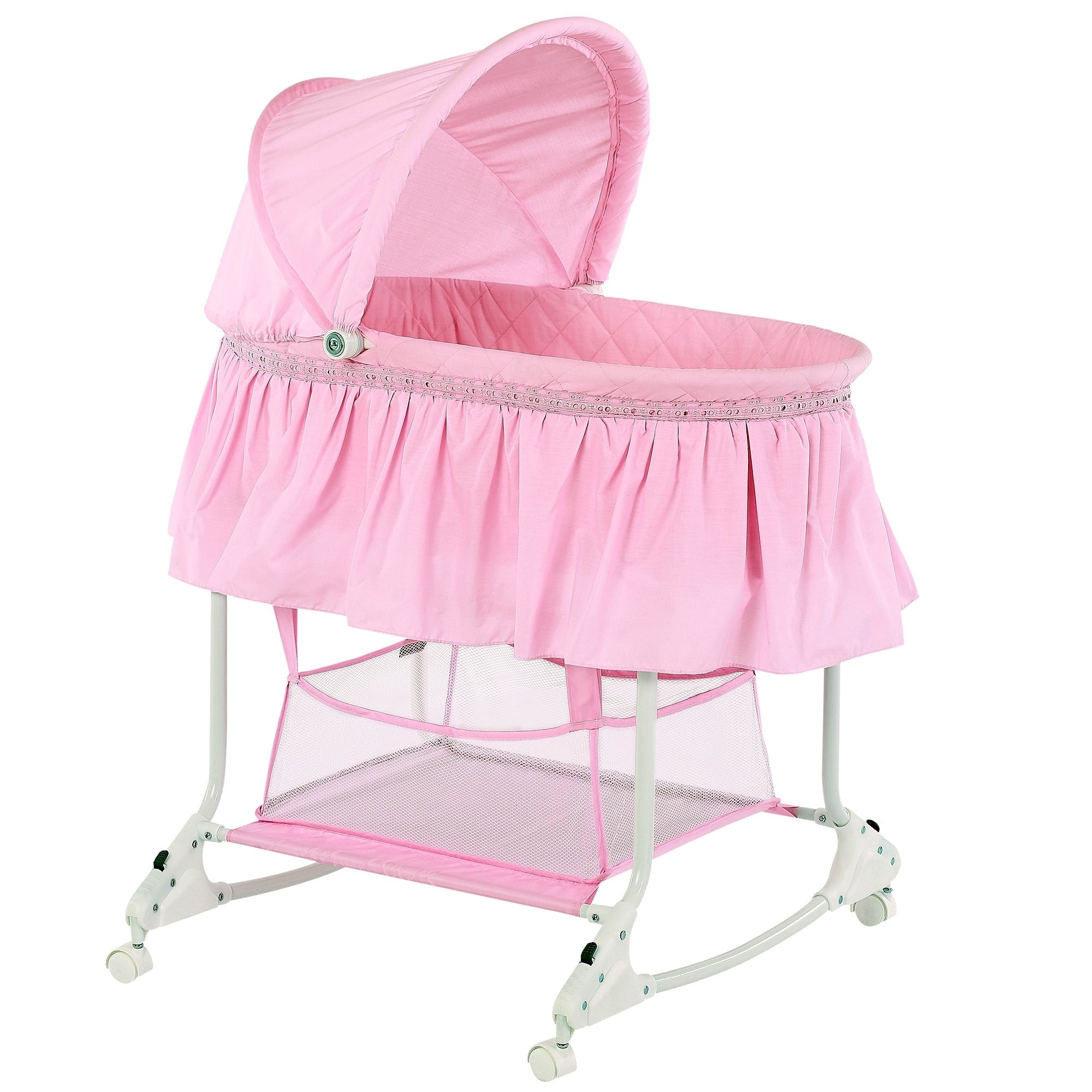 Dreamonme Willow Pink Plastic Bassinet (pink)