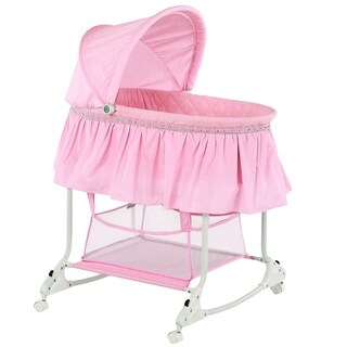 Dream on Me Willow Pink Plastic Bassinet