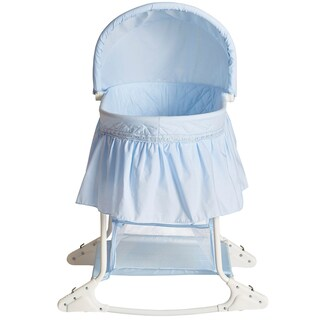 Dream on Me Willow Sky Blue Bassinet