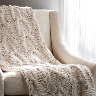 Link to Cottage Home Michaela Cotton Knitted Throw Blanket Similar Items in Decorative Accessories