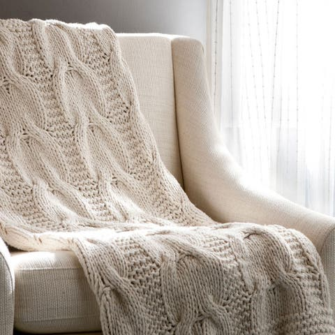 Cottage Home Michaela Cotton Knitted Throw Blanket