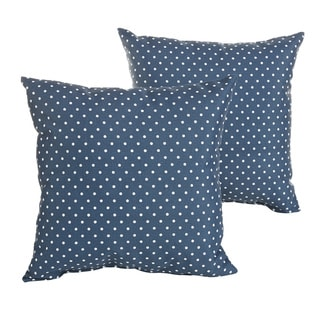 Perry Navy Dots Indoor/ Outdoor 22 inch Square Pillow Set