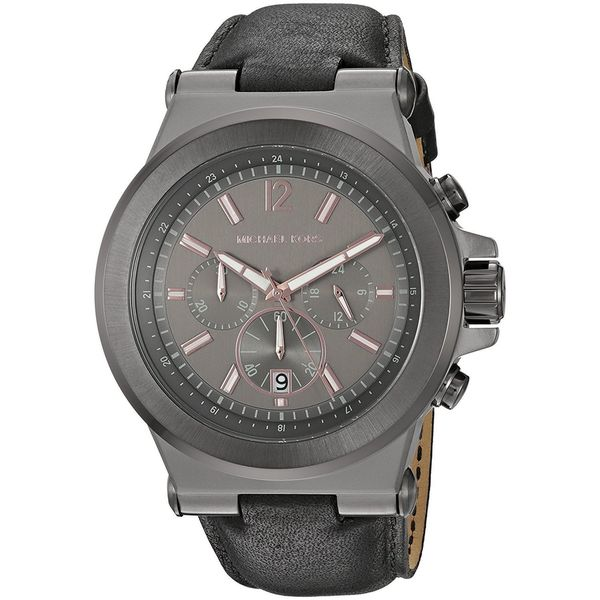 687a1b00cc30d Shop Michael Kors Men s MK8511  Dylan  Chronograph Black Leather Watch -  Free Shipping Today - Overstock - 14335476