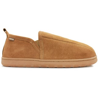 Men's Romeo Suede and Sheepskin Slippers With Rubber Sole