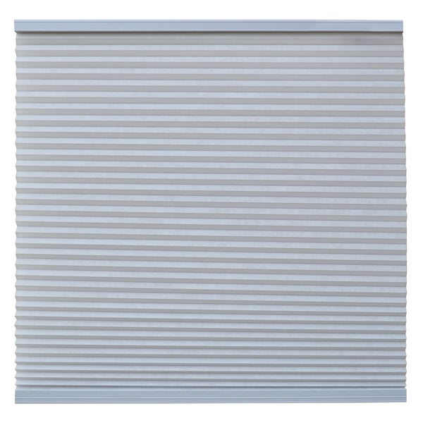 Keystone Fabrics Light Filtering Cordless Cellular Shade Steel Grey 30.25 to 38 inch wide x 72 inch d