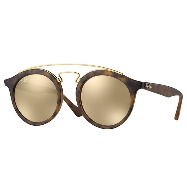85b0793162 Ray-Ban RB4256 60925A Gatsby I Tortoise Gold Frame Gold Mirror 46mm Lens  Sunglasses