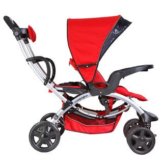 Mia Moda Red Plastic Compagno Stroller|https://ak1.ostkcdn.com/images/products/14335567/P20913921.jpg?impolicy=medium