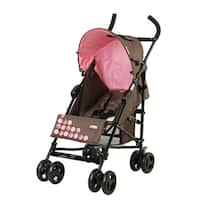 Mia Moda Brown/Pink Facile Umbrella Stroller
