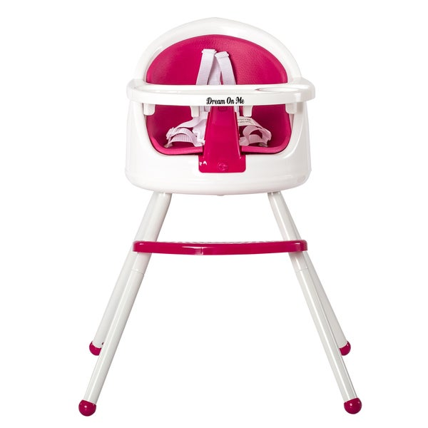 Dream On Me Pink Plastic 3-in-1 Pod Highchair