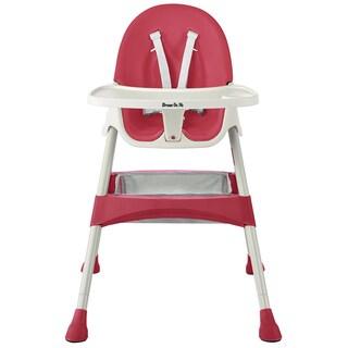 Dream on Me Raspberry Jackson Pink Plastic Highchair