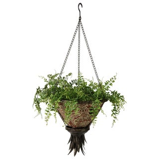 Bombay Outdoors Antique Black Sierra Hanging Fabric Planter With Venice Liner