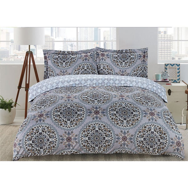 Lauren Taylor - Aretha 3pc Printed Duvet Cover Set