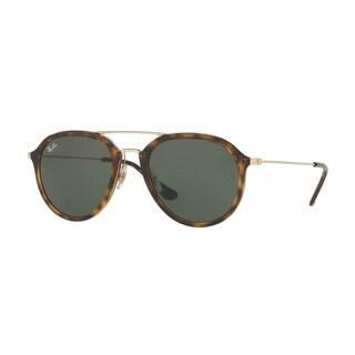 Ray-Ban Unisex RB4253 710 Tortoise/Gold Frame Green Classic 53mm Lens Sunglasses