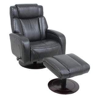 Global Office Furniture Black Recliner