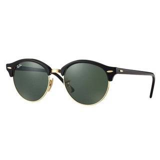 Ray-Ban RB4246 901 Clubround Black Frame Green Classic 51mm Lens Sunglasses