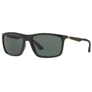Ray-Ban RB4228 622771 Black/Gold Frame Green Classic 58mm Lens Sunglasses