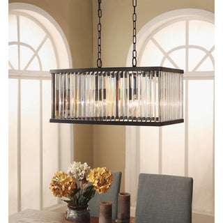Abbyson Stella Rectangular Crystal Chandelier