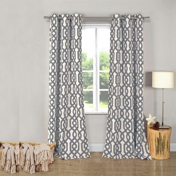 geometric blackout curtains navy blue duck river ashmont geometric blackout curtain panel pair 38x112 shop