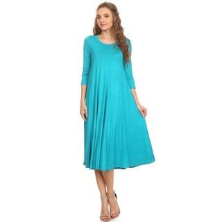 Women's Jade Color Solid Dress