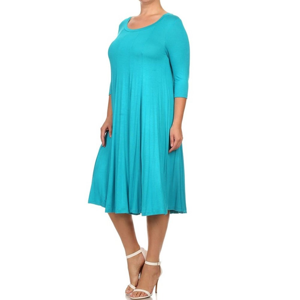 Womens Plus Size Jade Color Dress