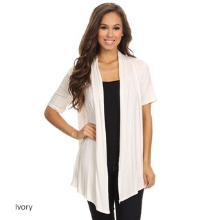 Women's Solid Color Short Sleeve Cardigan (More options available)