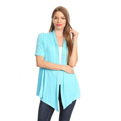 Women's Solid Color Short Sleeve Cardigan