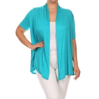 Women's Rayon Plus-size Solid Color Cardigan|https://ak1.ostkcdn.com/images/products/14335768/P20914072.jpg?impolicy=medium