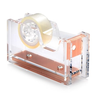 Insten Clear/ Rose Gold Acrylic Desktop Mini Tape Dispenser with 1-inch Core Tape