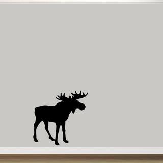 "Moose Silhouette Vinyl Wall Decal (36"" x 36"")"