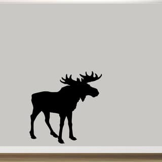 "Moose Silhouette Vinyl Wall Decal (48"" x 48"")